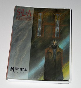 My extreemly well used copy of the SLA Industries rule book