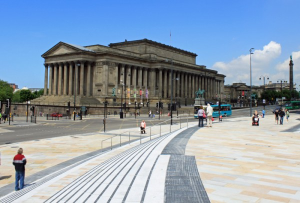 St. George's Hall from Lime Street Station, Liverpool