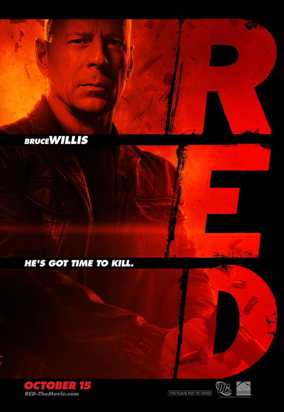 Red Bruce Willis Poster