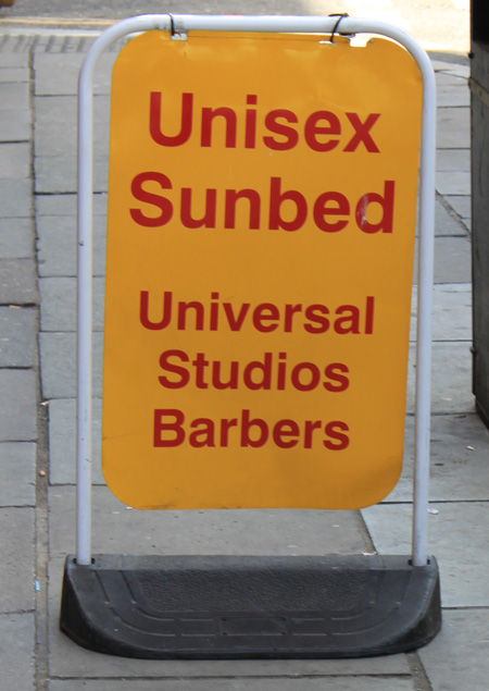 Unisex Sunbed sign