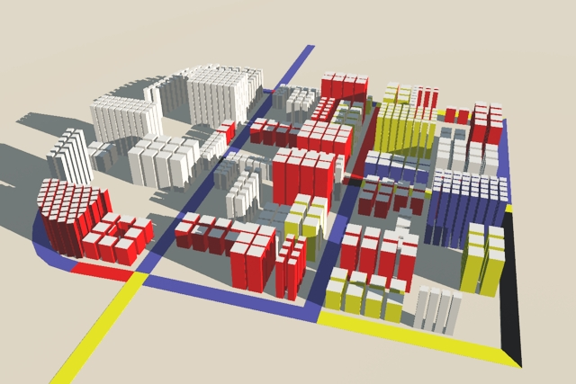 CityEngine Constructivist Architectural Model 1