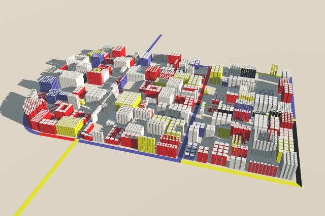CityEngine Constructivist Architectural Model 2