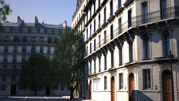 CityEngine Paris Render