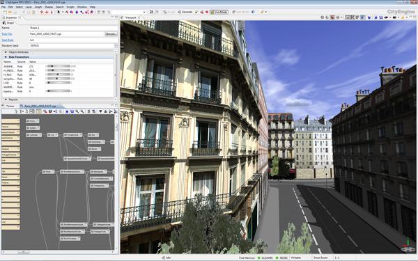 CityEngine2010 Paris Editor