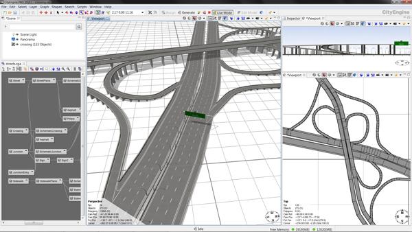 CityEngine2010 Road Network