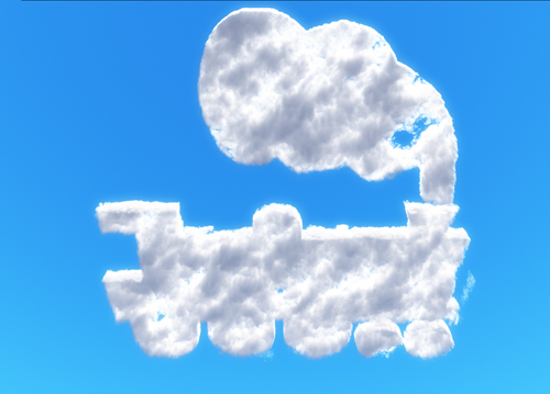 Train Shaped Cloud Rendered in Vue 9.5 Infinite