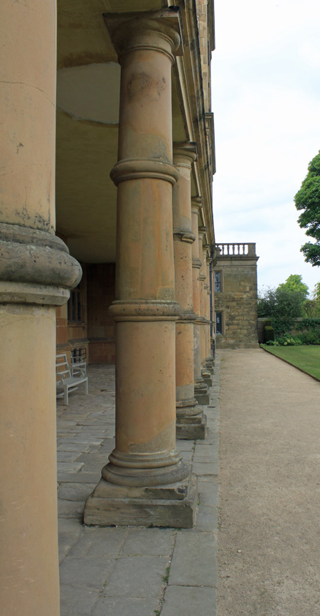Photograph of the Hardwick Hall Collonade