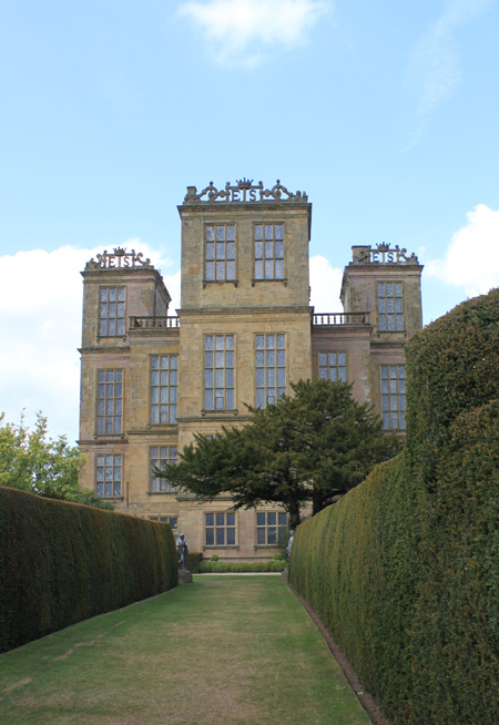 Hardwick Hall photographed from the gardens