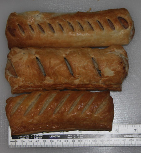 Sausage Roll Length Comparison