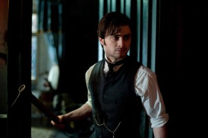 The Woman in Black: Arthur Kipps with an axe