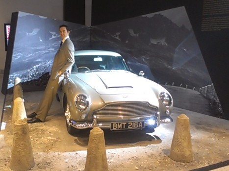 Bond Aston Martin DB5 at the Barbican