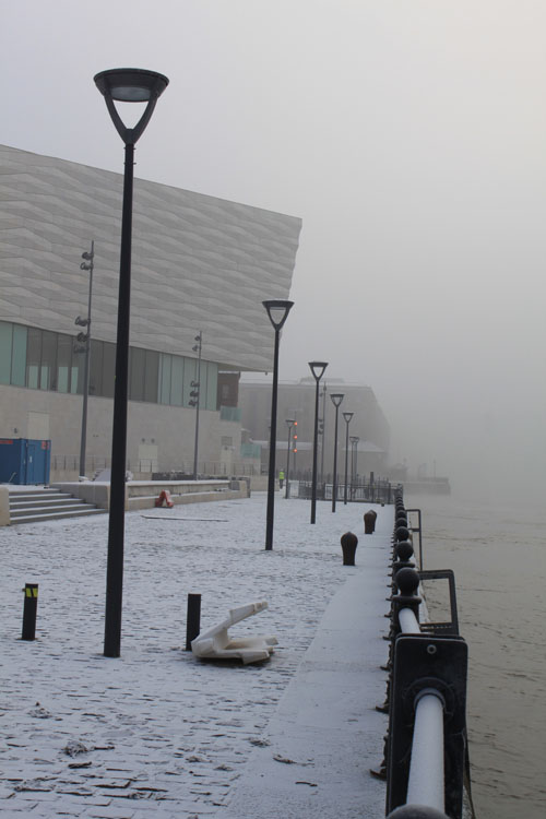 Liverpool Museum beside Mersey Fog 2010