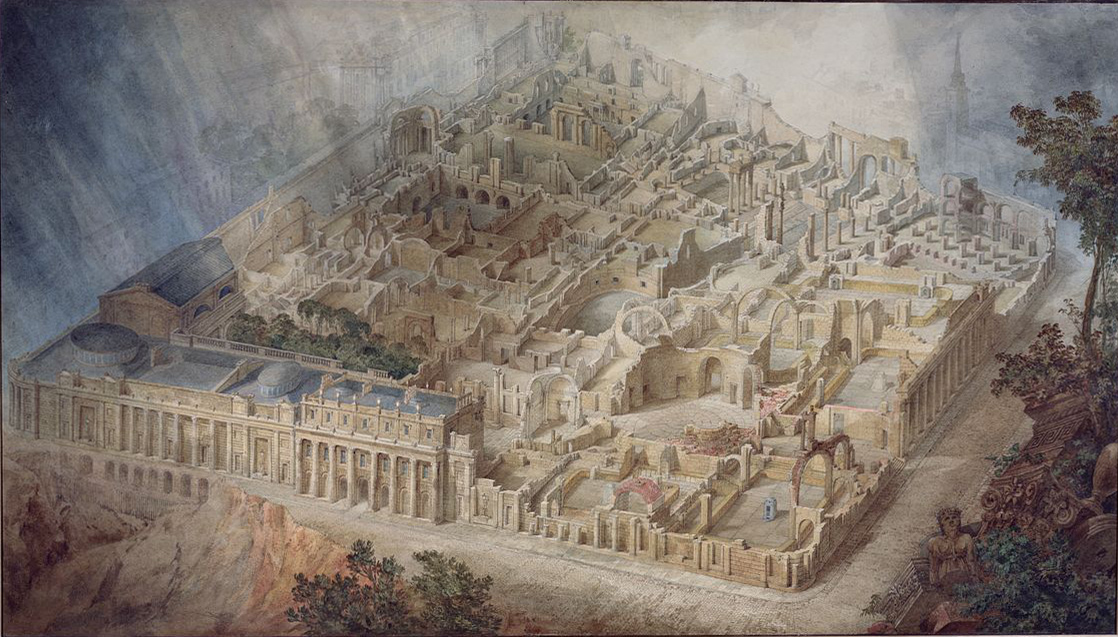Joseph Michael Gandy's A Bird's Eye View of the Bank of England (1830)
