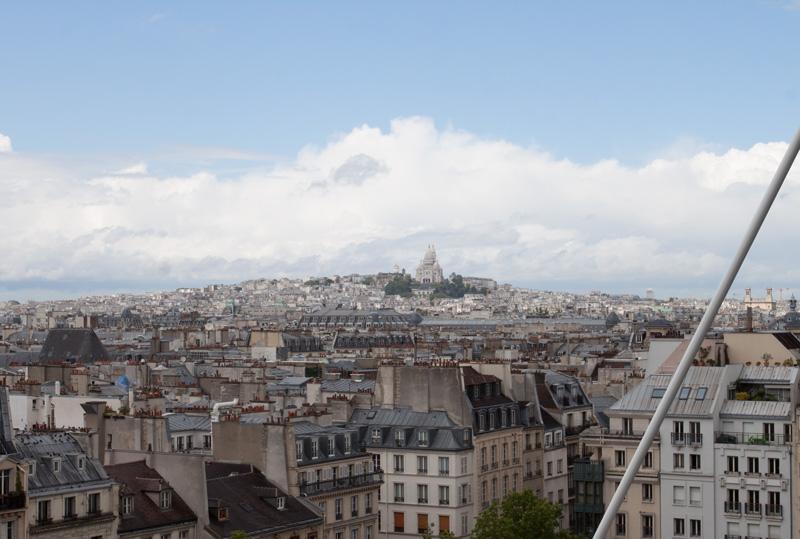 La Basilique du Sacré Cœur de Montmartre from Le Centre Pompidou