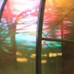 Late evening sunlight through the Serpentine Gallery Pavillion July 2015