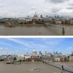 Panorama from Tate Modern July 2014 and 2015