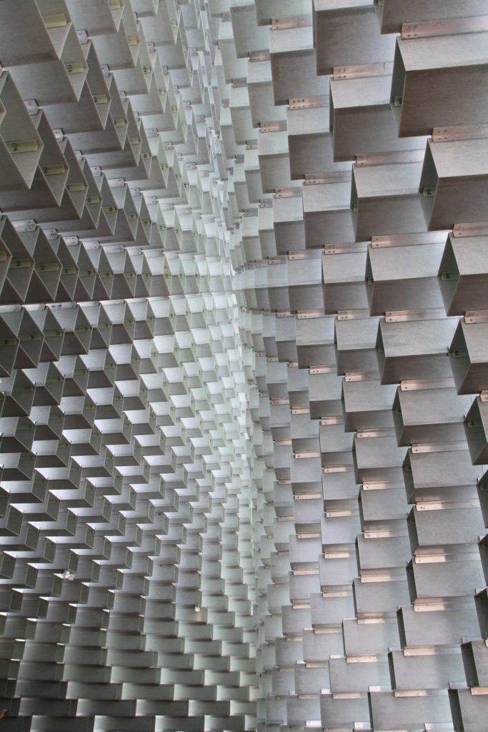 Serpentine Pavilion 2016 roof apex from inside