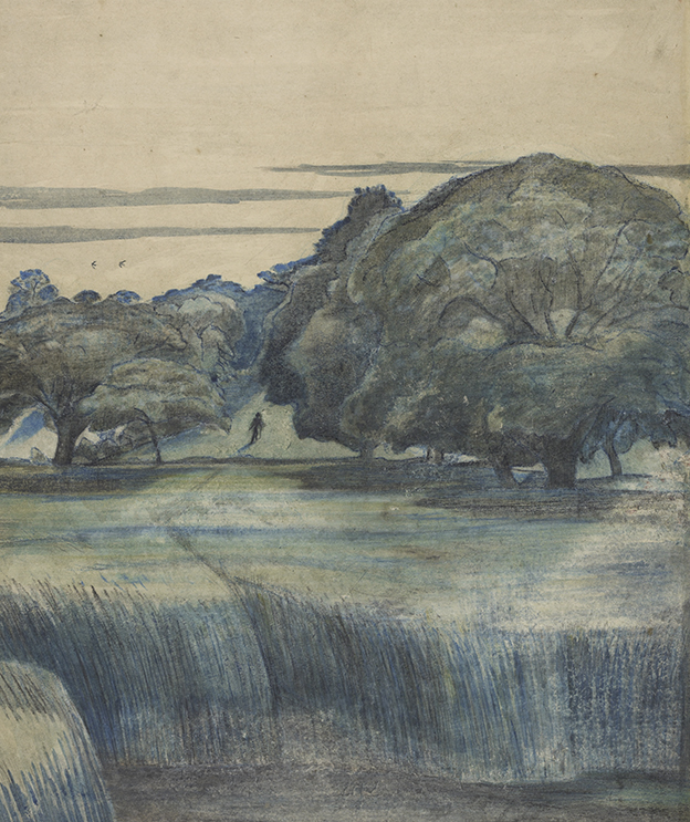 Paul Nash (1889–1946), The Wanderer, also called Path through trees - part of Places of the mind at the British Museum