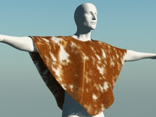 Vue render of a Michael 3 wearing a Gurgel modelled in Virtual Fashion