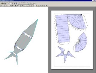 Making an Experimental Space Craft Net using Pepakura Designer