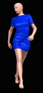 Victoria 3 wearing a dress made with Virtual Fashion dress