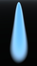 A blue gas flame in Vue